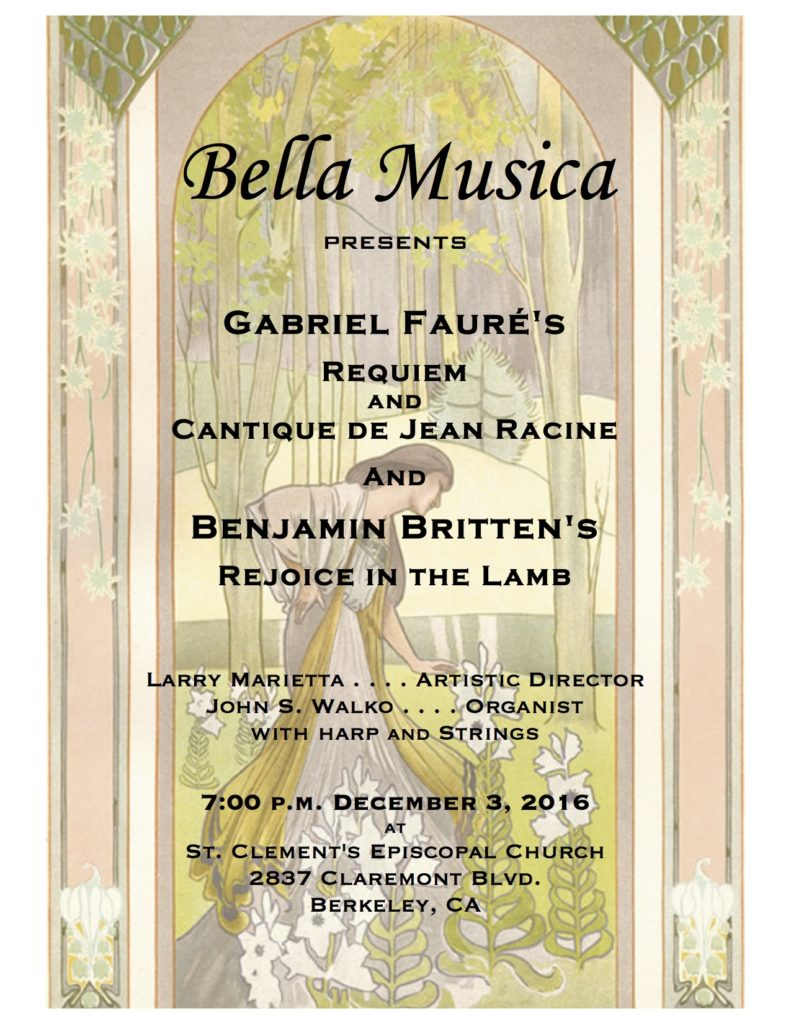 2016 Bella Musica Fall Concert corrected